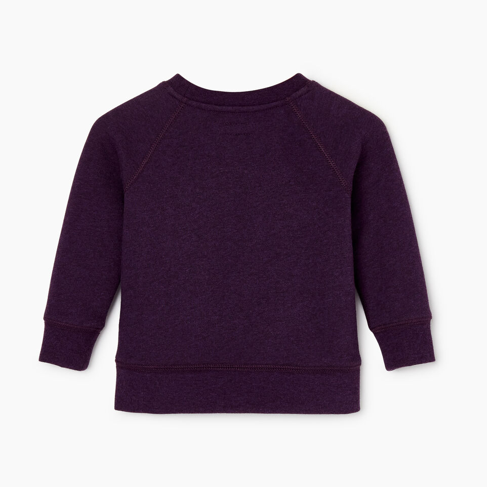 Roots-New For December Kids-Baby Laurel Crewneck Sweatshirt-Blackberry Mix-B