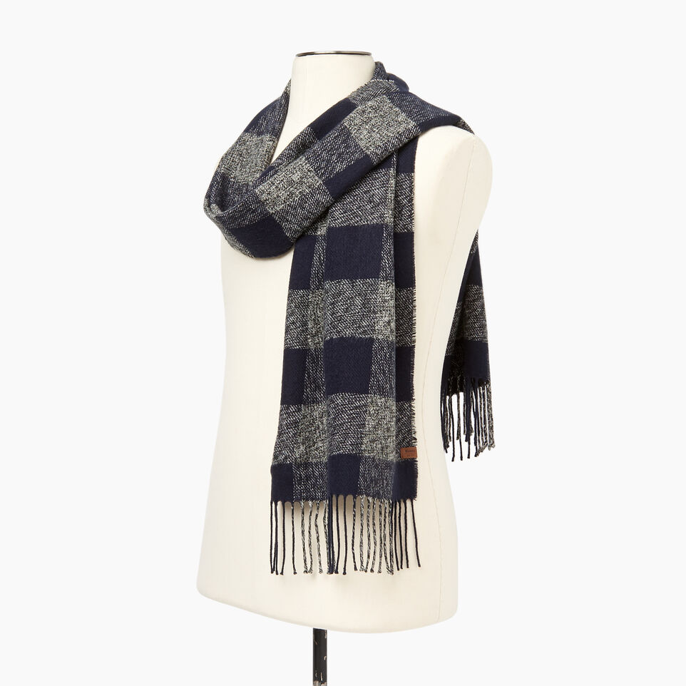 Roots-New For December Today Only: 40% Off Park Plaid Collection-Roots Park Plaid Scarf-Navy-C