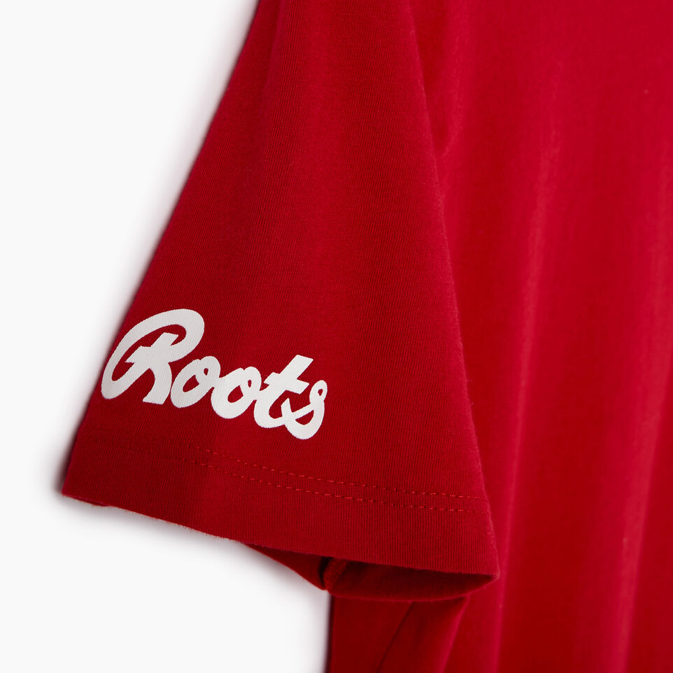 Roots-New For March Daily Offer-Womens Canada T-shirt-Sage Red-E