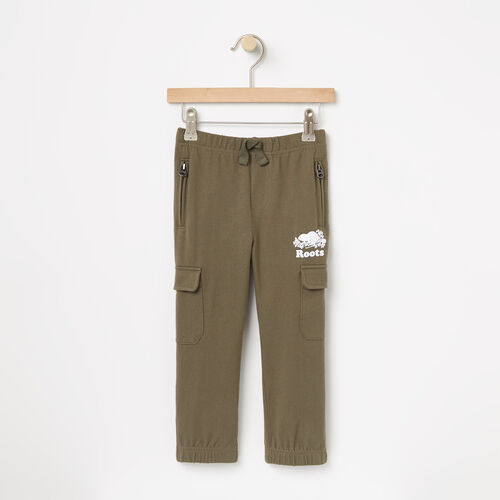 Roots-Sale Kids-Toddler Heavyweight Jersey Utility Pant-Dusty Olive-A