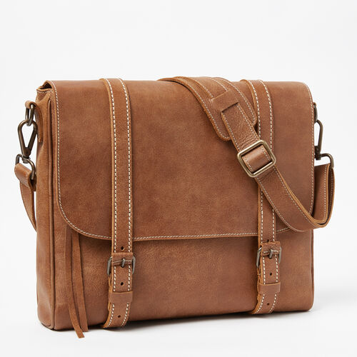 Roots-Cuir Sacs D'affaires-Satchel Moderne Cuir Tribe-Nature-A