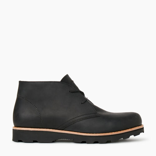 Roots-Footwear Men's Footwear-Mens Gibson Chukka Boot-Black-A