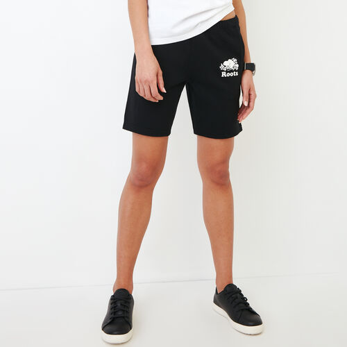 Roots-Women Categories-Original Longer Sweatshort-Black-A