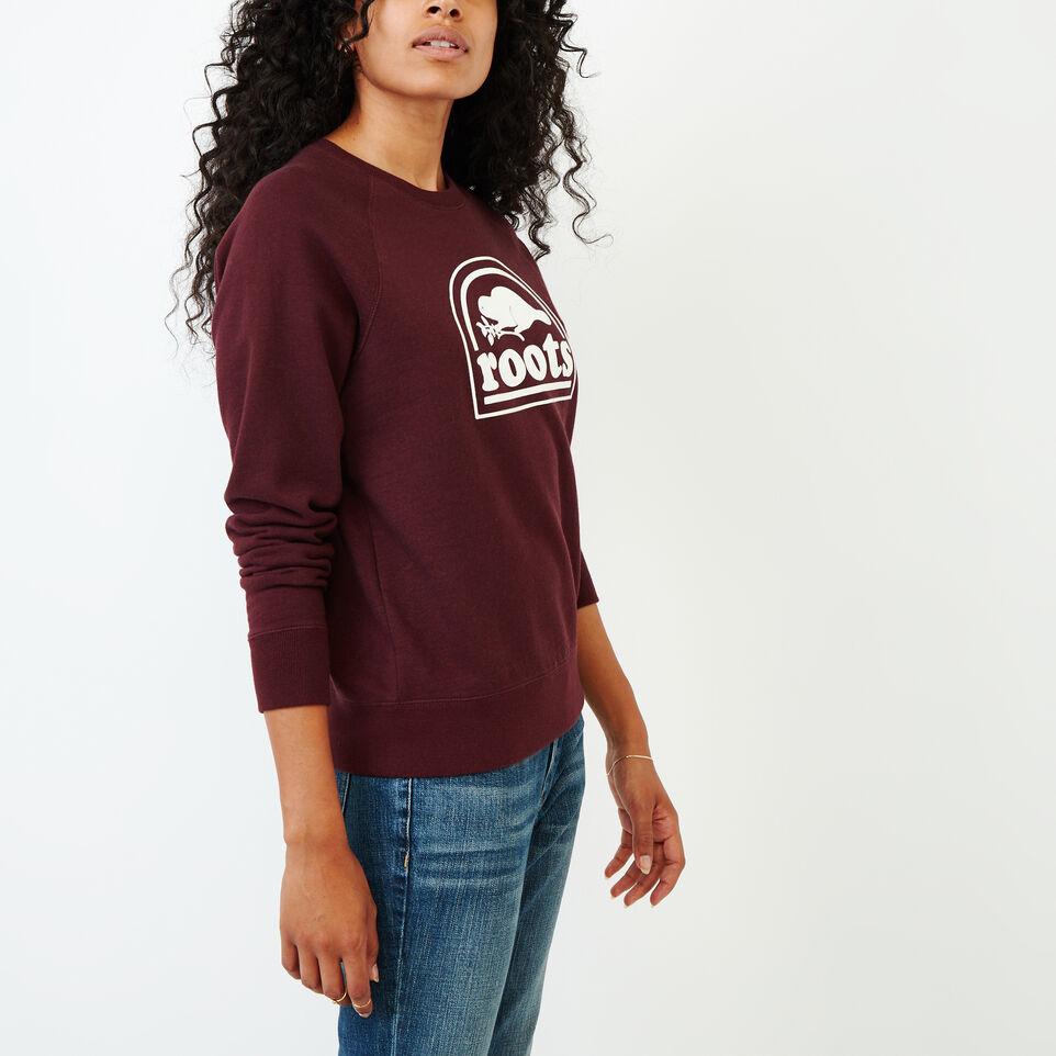 Roots-Women Our Favourite New Arrivals-Vault Relaxed Crew Sweatshirt-Crimson Mix-C