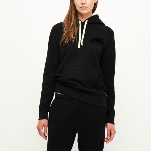 Roots-New For August Women-Remix Kanga Hoody-Black-A