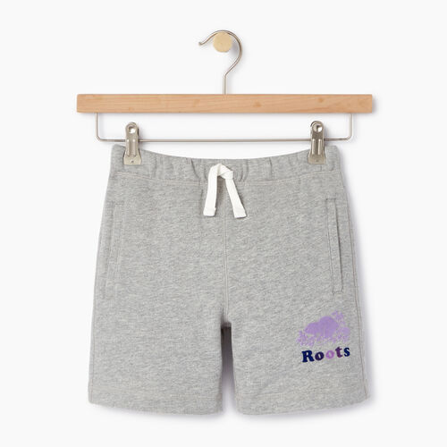 Roots-Kids Categories-Girls Original Roots Short-Grey Mix-A