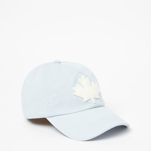 Roots-Women Accessories-Canada Leaf Baseball Cap-Celestial Blue-A