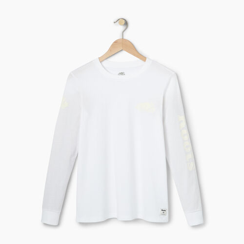 Roots-Winter Sale 40-50% Off - View All-Womens Cooper Remix Long Sleeve T-shirt-White-A