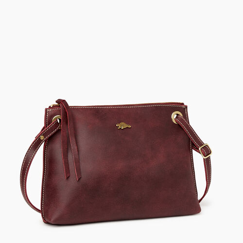 Roots-Leather Crossbody-Edie Bag-Crimson-A
