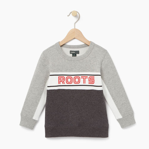 Roots-Clearance Kids-Toddler Sportsmas Crew Sweatshirt-Charcoal Mix-A