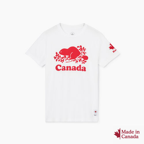 Roots-New For October Canada Collection By Roots™-Womens Cooper Canada T-shirt-Crisp White-A