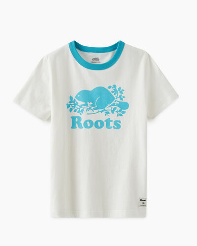 Roots-Kids T-shirts-Kids Cooper Pop T-shirt-Peacock Blue-A