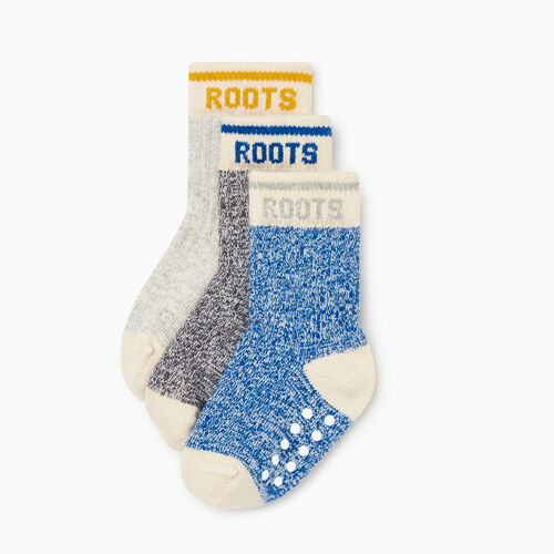 Roots-Kids Accessories-Toddler Cabin Sock 3 Pack-Classic Blue-A