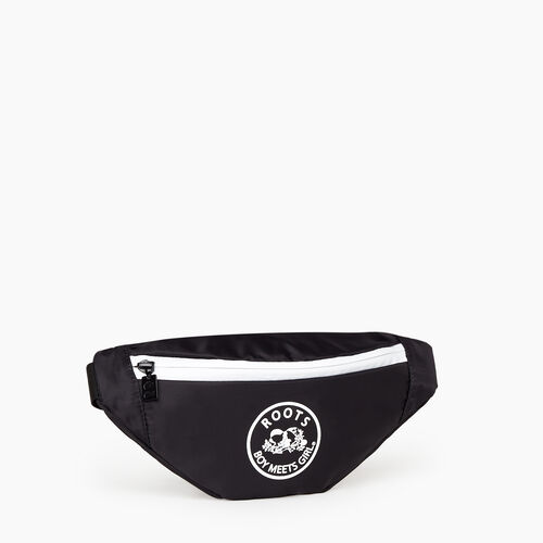 Roots-New For July Roots X Boy Meets Girl-Roots x Boy Meets Girl - United Fanny Pack-Black-A