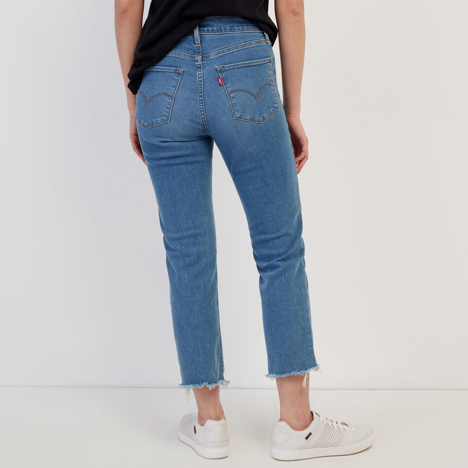 Roots-Women Clothing-Levi's 724 Hi rise Straight Crop Jean-Med Denim Blue-D