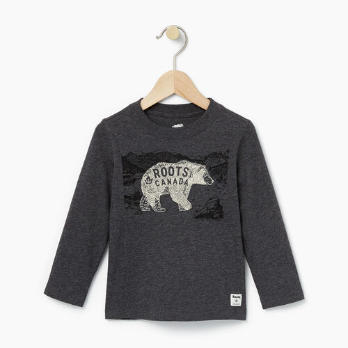 Roots-Winter Sale Toddler-Toddler Wilderness T-shirt-Charcoal Mix-A