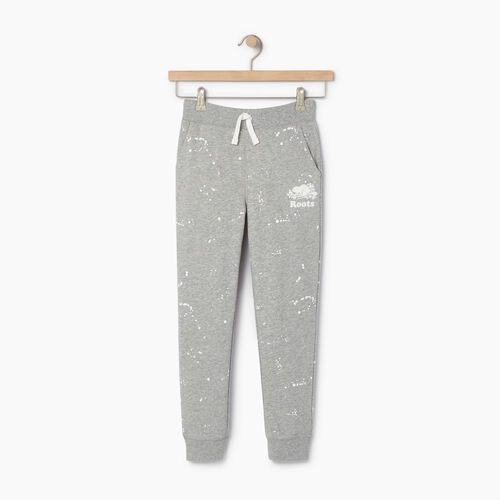 Roots-Clearance Kids-Boys Splatter Sweatpant-Grey Mix-A