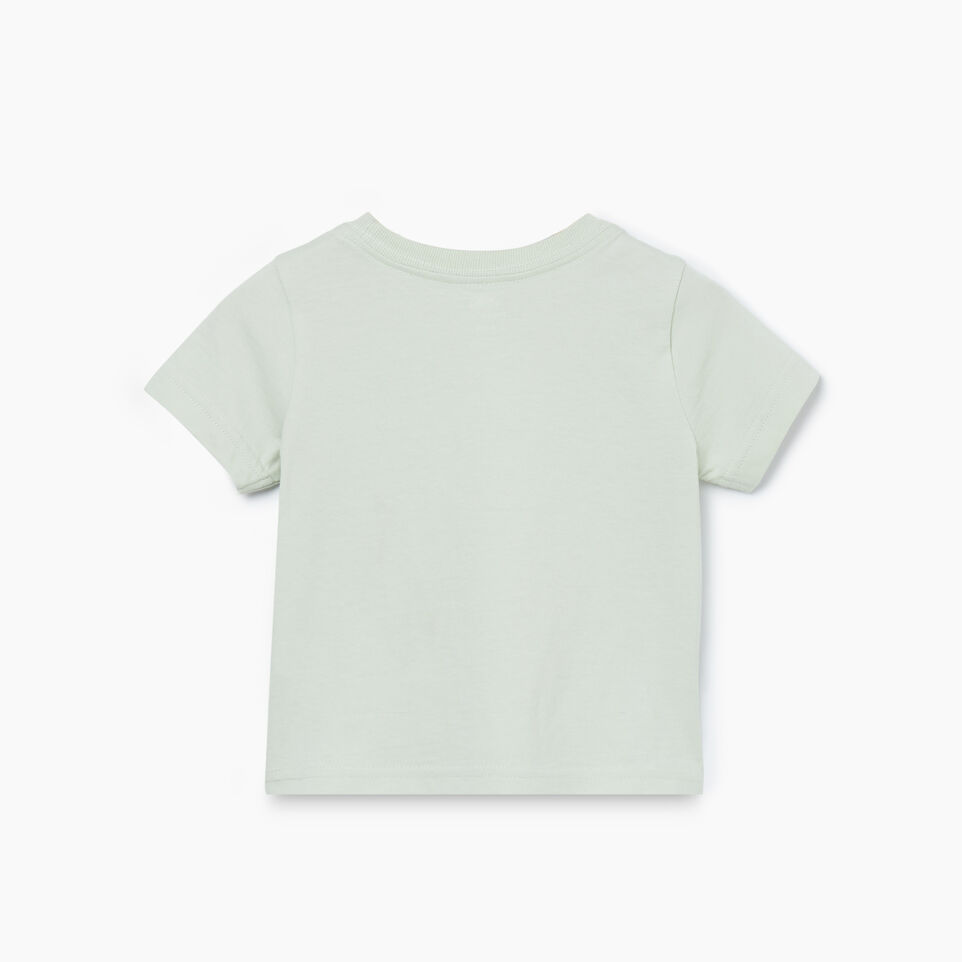 Roots-Kids New Arrivals-Baby Woodland Animal T-shirt-Sea Foam-B