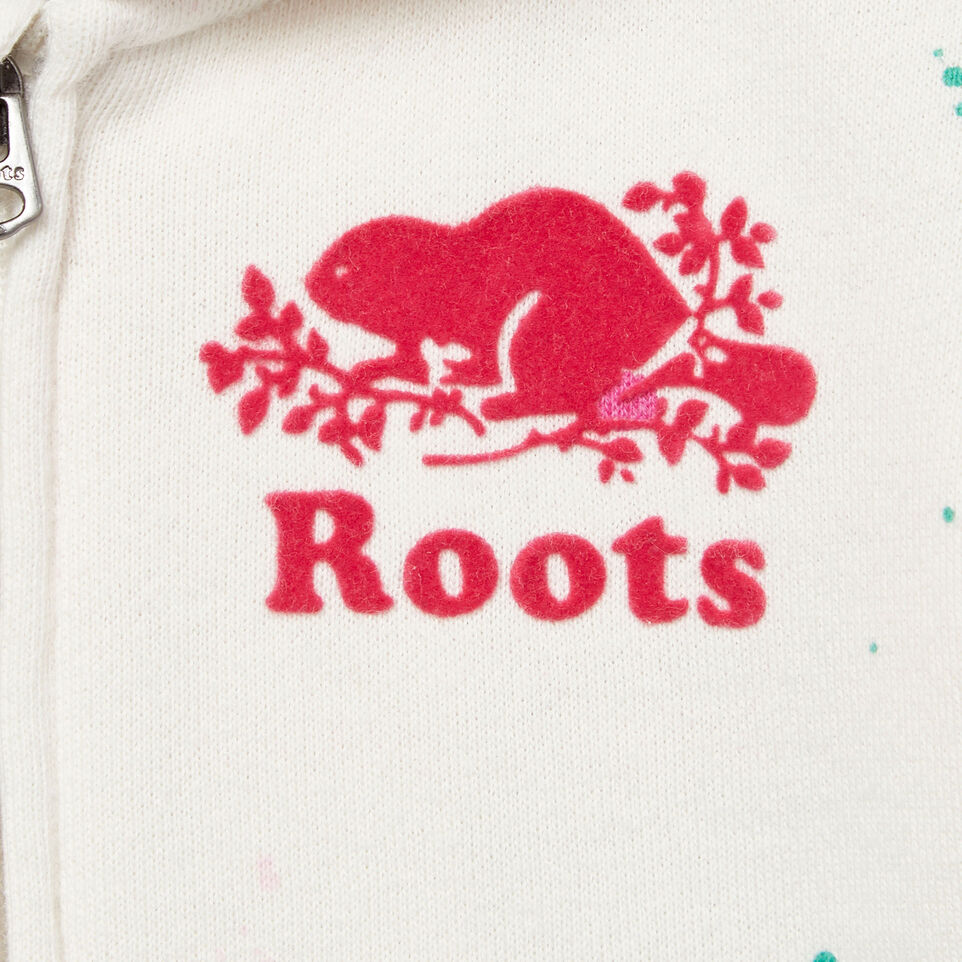 Roots-Kids Our Favourite New Arrivals-Baby Splatter Full Zip Hoody-Cannoli Cream-D