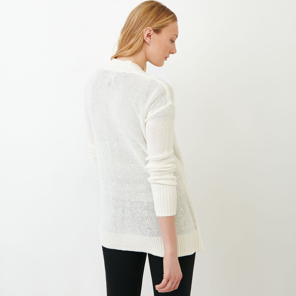 Roots-Women Sweaters & Cardigans-Hillsview Open Cardigan-Ivory-D