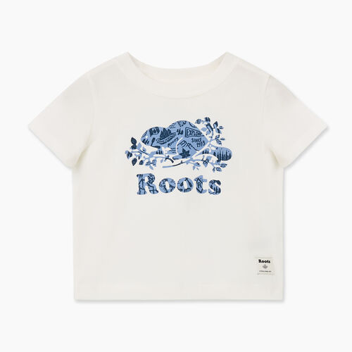 Roots-Kids Baby-Baby Camp Cooper T-shirt-Ivory-A