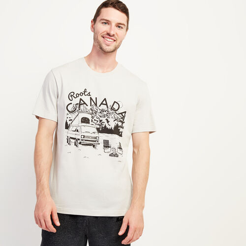 Roots-Men New Arrivals-Mens Open Road T-shirt-Vapour Grey-A