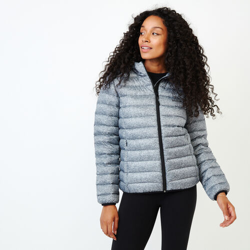 Roots-New For October Packable Jackets-Roots Packable Down Jacket-Salt & Pepper-A