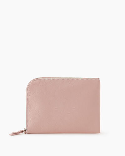 Roots-Leather New Arrivals-Travel Commuter Pouch Cervino-Pink Pearl-A