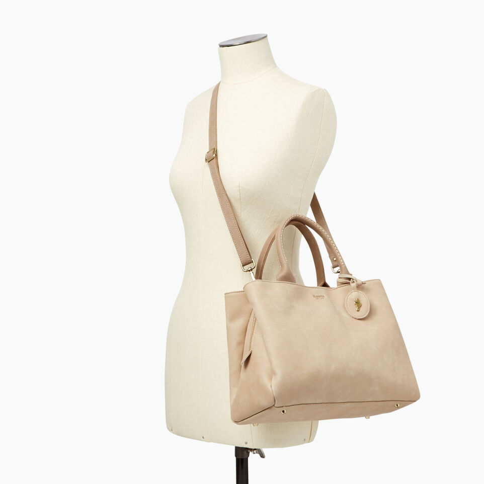 Roots-Leather  Handcrafted By Us Handbags-Mont Royal Bag-Sand/latté-B