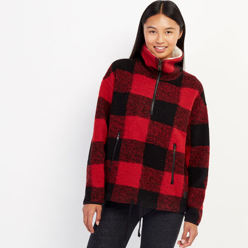 Roots-Women Outerwear-Seymour Popover Anorak-Cabin Red-A