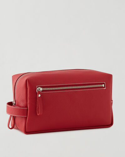 Roots-Leather New Arrivals-Extra Large Utility Pouch Cervino-Lipstick Red-A