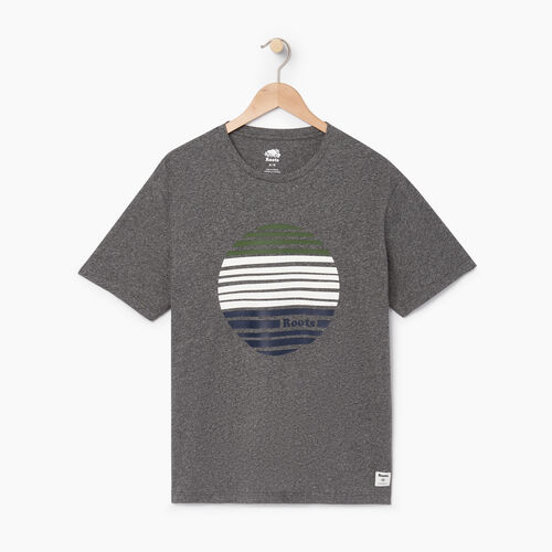 Roots-Men Our Favourite New Arrivals-Mens Harvest Moon T-shirt-Charcoal Pepper-A