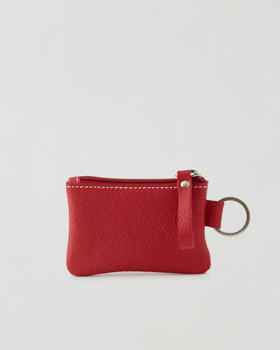 Roots-Leather New Arrivals-Top Zip Pouch Cervino-Lipstick Red-A