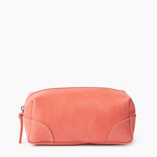 Roots-Leather New Arrivals-Small Banff Pouch Tribe-Coral-A