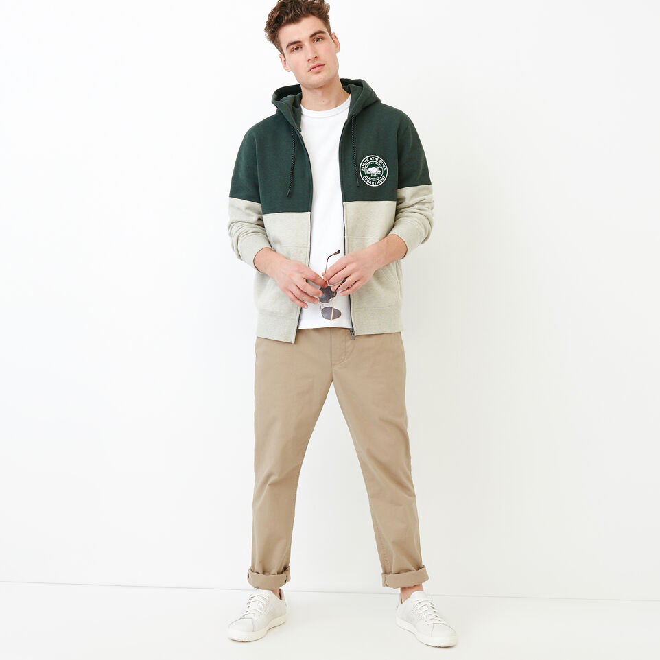 Roots-Men Our Favourite New Arrivals-Athletic Dept. Zip Hoody-Spray Green Mix-B