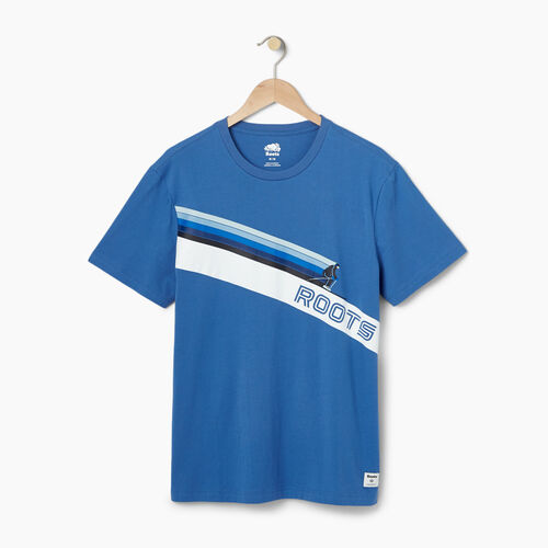 Roots-Men Our Favourite New Arrivals-Mens Roots Ski T-shirt-Federal Blue-A