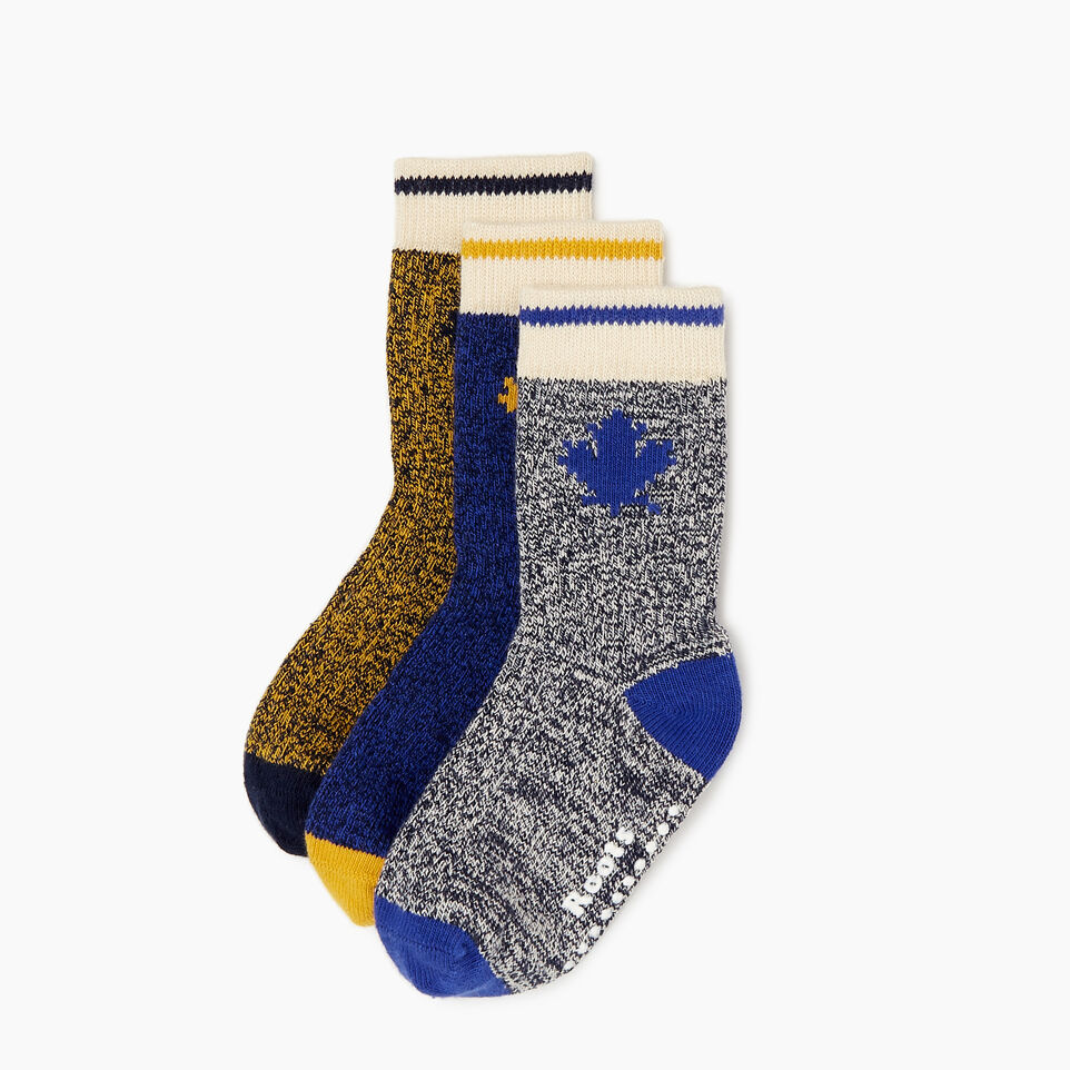 Roots-Kids Toddler Boys-Toddler Maple Sock 3 Pack-Blue-A