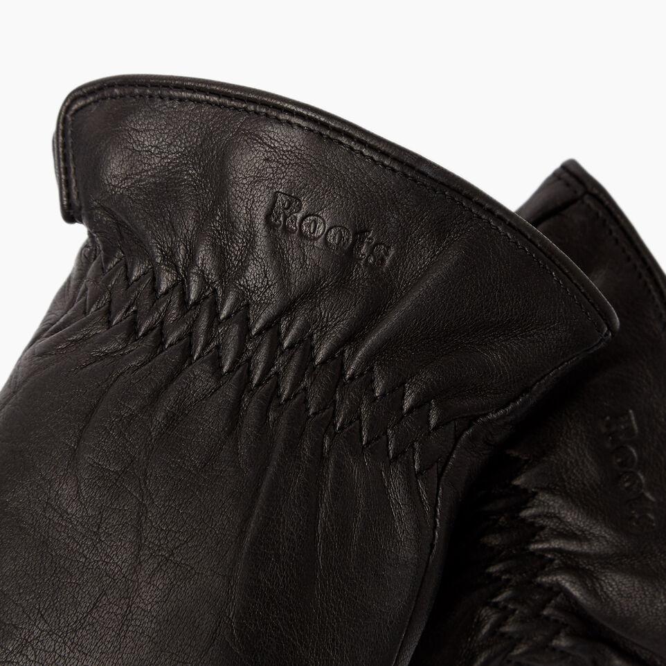 Roots-Women Leather Accessories-Womens Classic Nappa Glove-Black-C