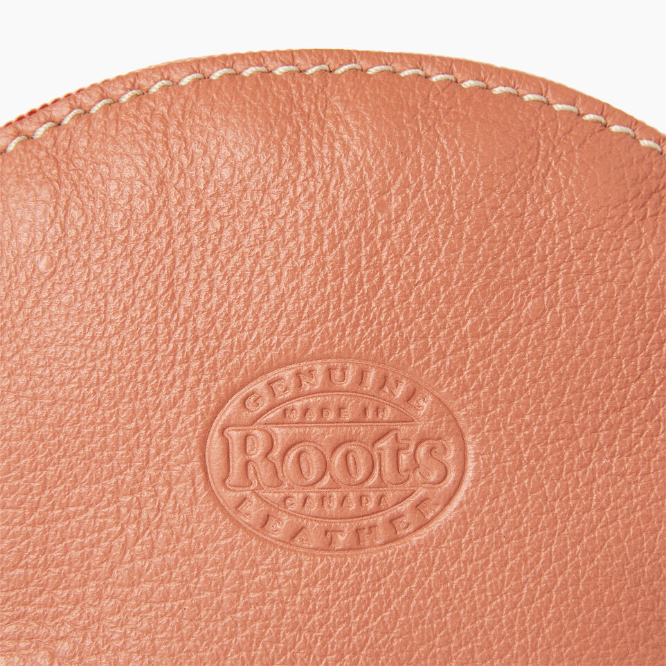 Roots-Leather Categories-Small Euro Pouch-Canyon Rose-C