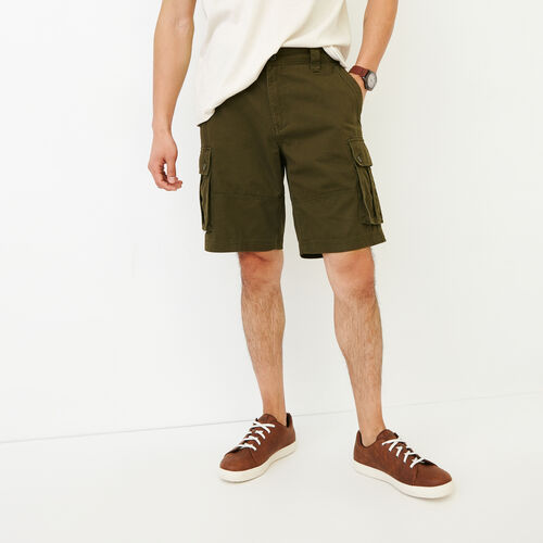 Roots-Hommes Shorts-Short Cargo Burlington-Treillis-A