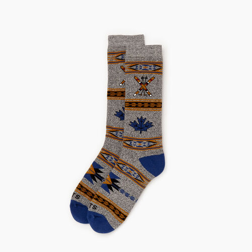 Roots-Women Socks-Winter Fun Boot Sock-Navy-A