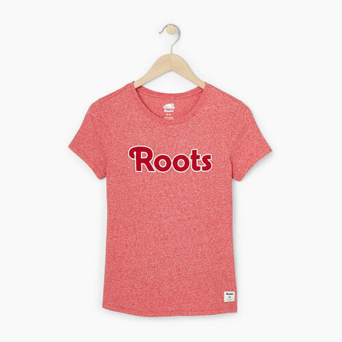 Roots-Sale Women-Womens Applique Slim T-shirt-Cabin Red Pepper-A