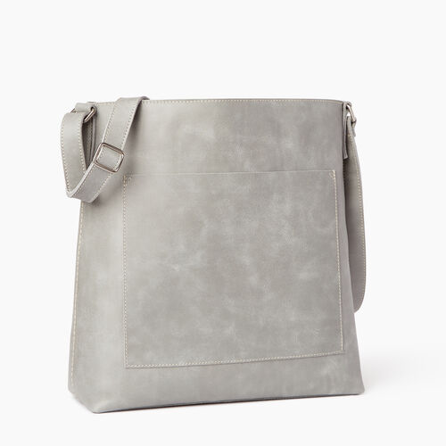 Roots-Leather Crossbody-Rideau Bag-Quartz-A