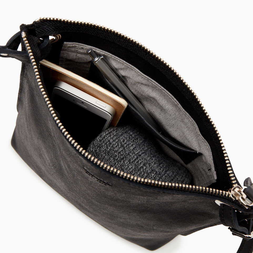 Roots-Leather  Handcrafted By Us Handbags-Festival Bag-Jet Black-D