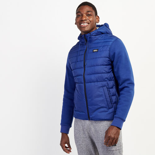 Roots-Men New Arrivals-Journey Hybrid Jacket-Mazarine Blue-A