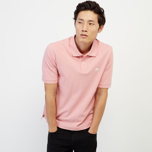 Roots-Men New Arrivals-Heritage Pique Polo-Blush-A