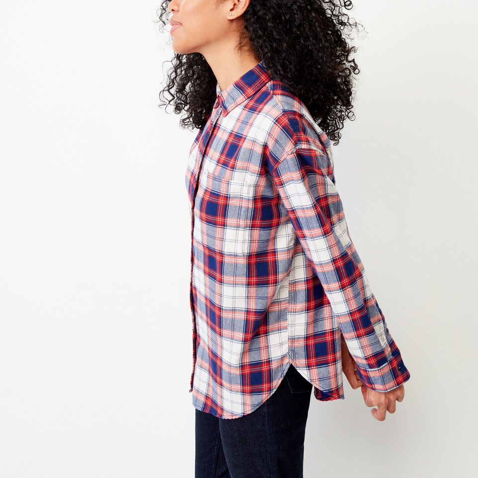 Roots-Women Our Favourite New Arrivals-Alaina Boyfriend Shirt-Lollipop-C