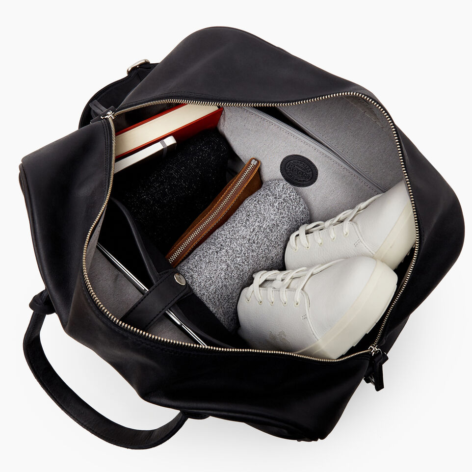 Roots-Leather  Handcrafted By Us Our Favourite New Arrivals-Jasper Gym Bag-Jet Black-D