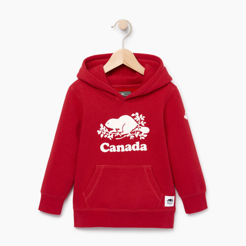 Roots-Kids Canada Collection-Toddler Canada Kanga Hoody-Sage Red-A