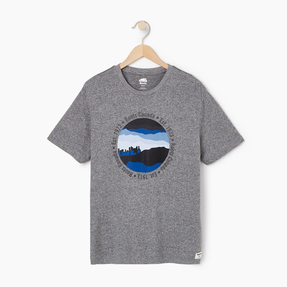 Roots-New For July Men-Mens Skyline T-shirt-Salt & Pepper-A